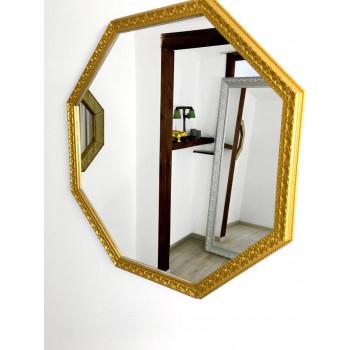 Зеркало восьмиугольное в золотой раме Uslada Gold