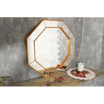 Зеркало восьмиугольное в зеркальной раме Nathalie Медь