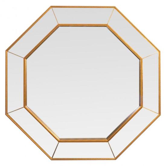Зеркало восьмиугольное в зеркальной раме Nathalie Медь в интернет-магазине ROSESTAR фото