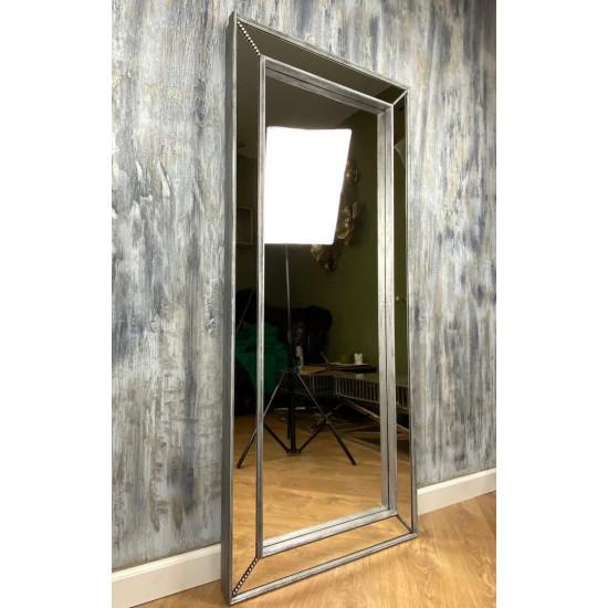 Зеркало большое напольное и настенное в полный рост в зеркальной раме Monic Silver в интернет-магазине ROSESTAR фото