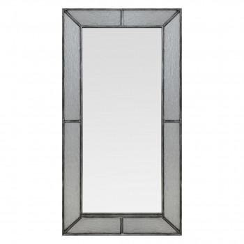Зеркало большое напольное в полный рост в серебряной раме Fandango silver