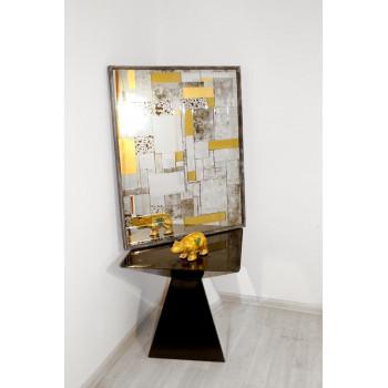 Зеркало в серебряной раме Fabrizio silver