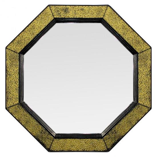 Зеркало восьмиугольное в раме Maja Золото, чёрный в интернет-магазине ROSESTAR фото