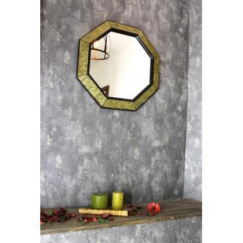 Зеркало восьмиугольное в раме Maja Золото, чёрный