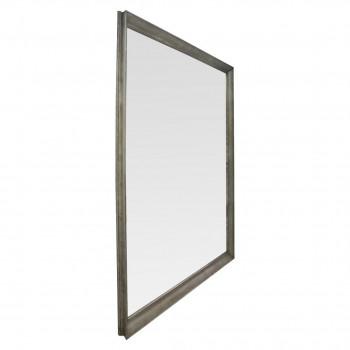 Квадратное большое зеркало напольное и настенное  в полный рост в серебряной раме Nofrino