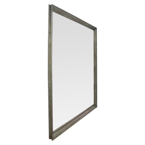 Квадратное большое зеркало напольное и настенное  в полный рост в серебряной раме Nofrino в интернет-магазине ROSESTAR фото