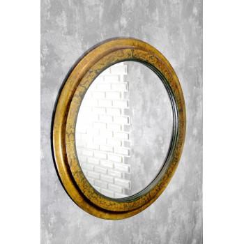 Зеркало круглое в золотой раме Chantal