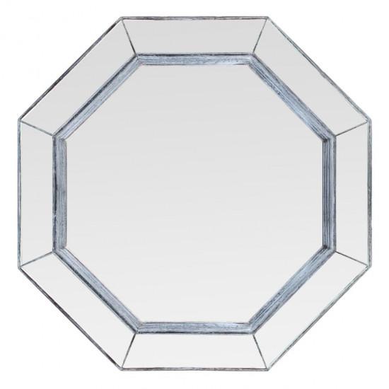 Зеркало восьмиугольное в раме Elias Серый прованс в интернет-магазине ROSESTAR фото