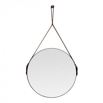 Круглое зеркало на кожаном ремне Davies