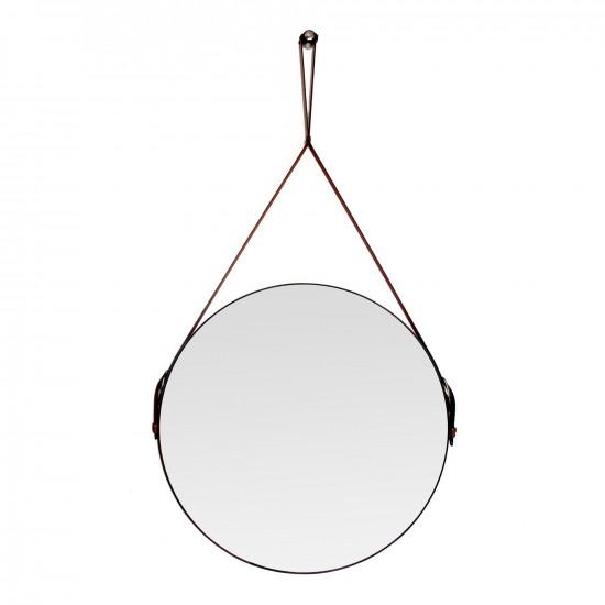Круглое зеркало на кожаном ремне Davies в интернет-магазине ROSESTAR фото
