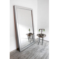 Зеркало большое напольное и настенное в раме в полный рост Modesto Серебро