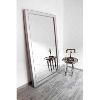 Зеркало большое напольное и настенное в зеркальной раме в полный рост Modesto Серебро