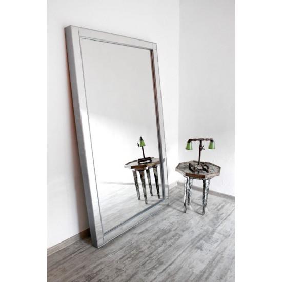 Зеркало большое напольное и настенное в зеркальной раме в полный рост Modesto Серебро в интернет-магазине ROSESTAR фото