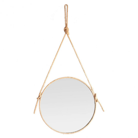 Зеркало на верёвке круглое декоративное Paco в интернет-магазине ROSESTAR фото