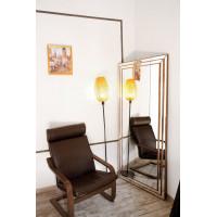 Зеркало большое напольное и настенное в полный рост в зеркальной раме Ruiz Золото