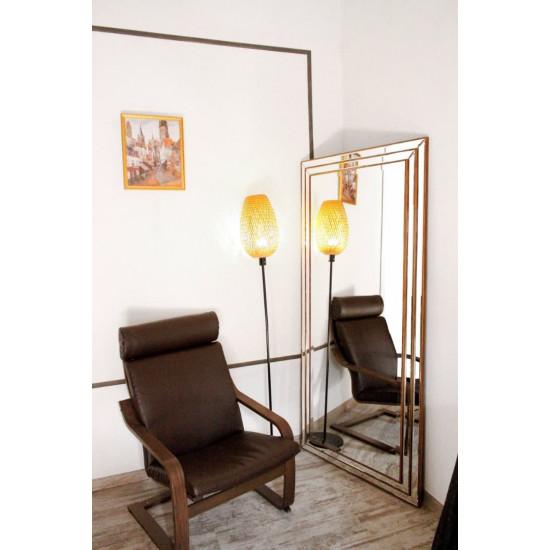 Зеркало большое напольное и настенное в полный рост в зеркальной раме Ruiz Золото в интернет-магазине ROSESTAR фото