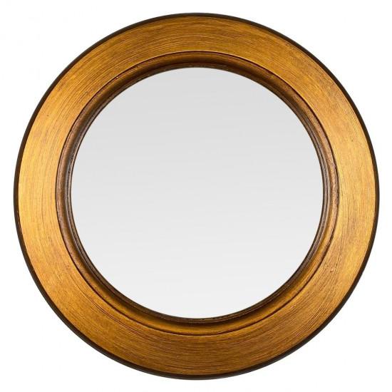 Круглое зеркало в золотой раме Golden Apple в интернет-магазине ROSESTAR фото