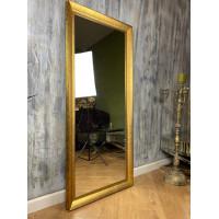 Зеркало большое напольное и настенное в полный рост в золотой раме Francesco