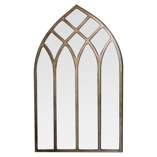 Готическое зеркало окно в золотой раме Gothica Gold в интернет-магазине ROSESTAR фото