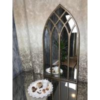 Готическое зеркало окно в золотой раме Gothica Gold