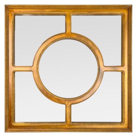 Квадратное зеркало в золотой раме Soleil в интернет-магазине ROSESTAR фото