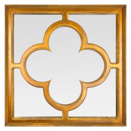 Квадратное зеркало Laforet Состаренное золото в интернет-магазине ROSESTAR фото