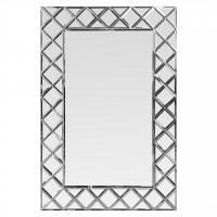 Венецианское зеркало в зеркальной раме Petit Cristal Серебро