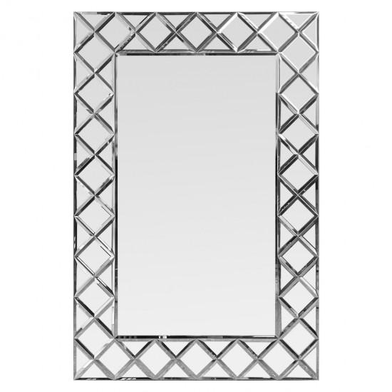 Венецианское зеркало в зеркальной раме Petit Cristal Серебро в интернет-магазине ROSESTAR фото