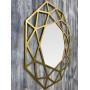 Зеркало восьмиугольное в раме цвета Латунь Tissue в интернет-магазине ROSESTAR фото 2