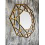 Зеркало восьмиугольное в золотой раме Tissue в интернет-магазине ROSESTAR фото 1