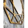 Зеркало восьмиугольное в золотой раме Tissue в интернет-магазине ROSESTAR фото 2