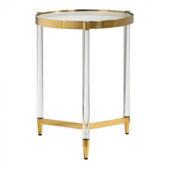 Кофейный столик круглый Стерлинг gold