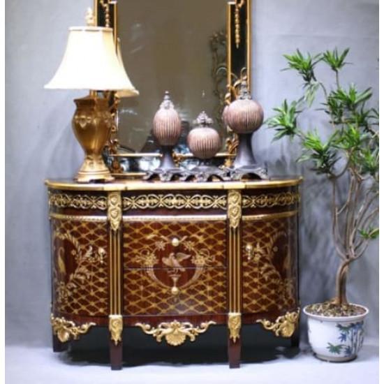 Комод с деревянной столешницей Graff Золото, орех в интернет-магазине ROSESTAR фото