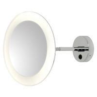 Зеркало косметическое настенное с подсветкой и с увеличением А0880