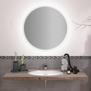 Круглое зеркало с подсветкой Алисия
