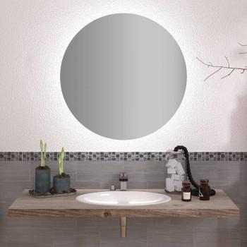 Круглое настенное зеркало с задней подсветкой эмбилайт Аура