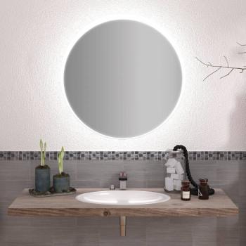 Круглое зеркало с подсветкой Элвин
