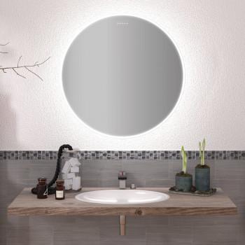 Круглое настенное зеркало со светодиодной LED-подсветкой Гаррис
