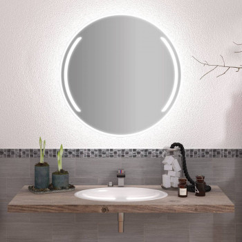 Круглое зеркало с подсветкой Луи