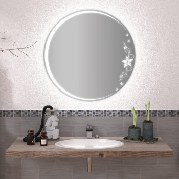 Круглое зеркало с подсветкой Месяц