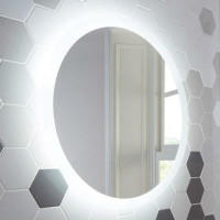 Круглое настенное зеркало со светодиодной LED-подсветкой Baltazar