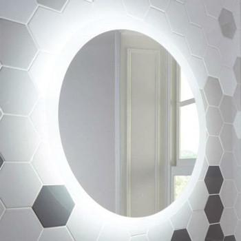 Круглое настенное зеркало со светодиодной LED-подсветкой Балтазар
