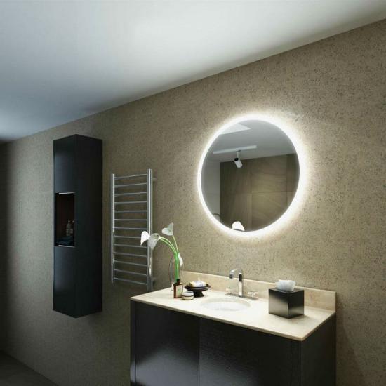 Круглое настенное зеркало со светодиодной LED-подсветкой Doretta в интернет-магазине ROSESTAR фото
