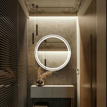 Круглое настенное зеркало со светодиодной LED-подсветкой Мадрид