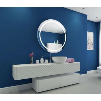 Круглое настенное зеркало со светодиодной LED-подсветкой Гарнет