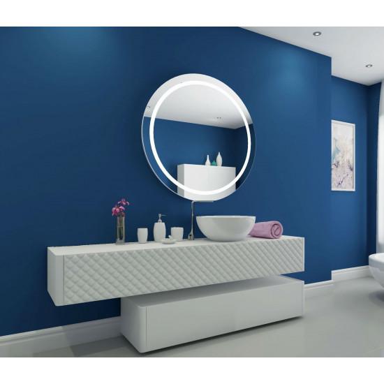 Круглое настенное зеркало со светодиодной LED-подсветкой Harmony в интернет-магазине ROSESTAR фото