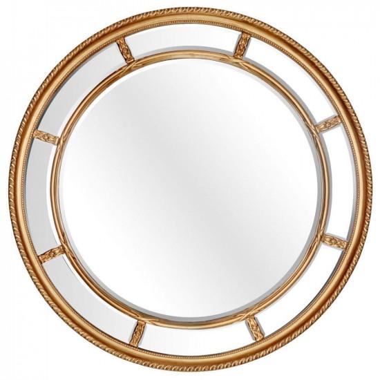 Большое круглое зеркало Prestige Gold в интернет-магазине ROSESTAR фото
