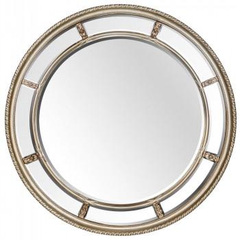 Большое круглое зеркало Prestige Silver