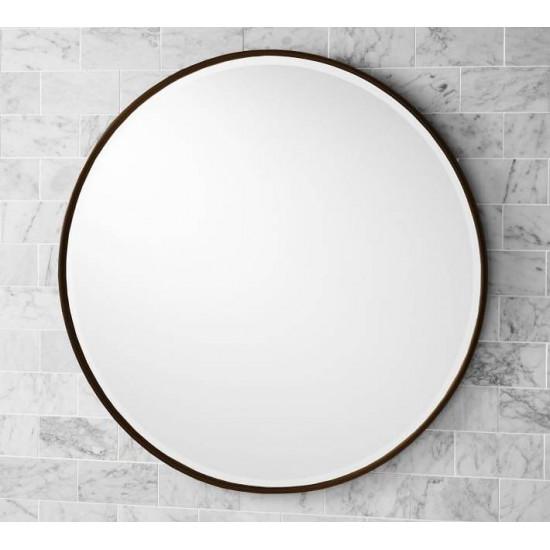 Круглое зеркало в раме Эва Бронза в интернет-магазине ROSESTAR фото