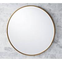 Круглое зеркало в раме Эва Латунь